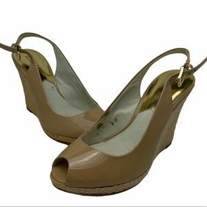 Michael Kors Natalia Sling Back Wedge Sandals